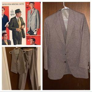 Vintage 3 piece wool suit